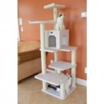 Cat condo, Amarakat faux fleece, ITEM# 12374072 ,Overstock/http://www.overstock.com/Pet-Supplies/Armarkat-Classical-Ivory-Faux-Fleece-Wooden-Cat-Tree-Gym-Furniture/4413816/