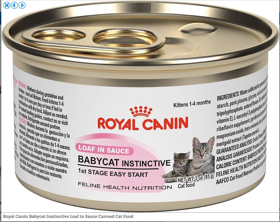 Royal Canin loaf